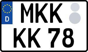amtliches Eurokennzeichen Main-Kinzig-Kreis