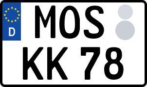 Vorgang zum Wunschkennzeichen in Mosbach