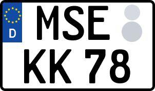 Vorgang zum Wunschkennzeichen in Mecklenburgische Seenplatte