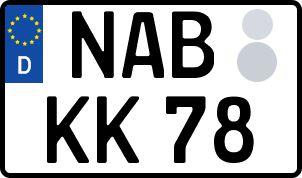 amtliches Eurokennzeichen Nabburg