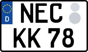amtliches Eurokennzeichen Neustadt bei Coburg