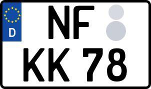 amtliches Eurokennzeichen Nordfriesland