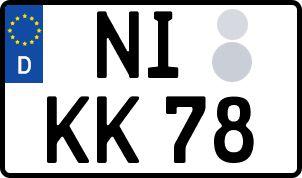 So erhält man sein persönliches Wunschkennzeichen in Nienburg/Weser