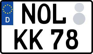 amtliches Eurokennzeichen Niederschlesische Oberlausitz