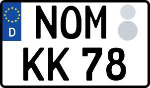 amtliches Eurokennzeichen Northeim