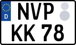 amtliches Eurokennzeichen Nordvorpommern