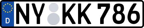 amtliches Eurokennzeichen Niesky