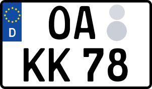 amtliches Eurokennzeichen Oberallgäu