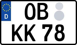 Vorgang zum Wunschkennzeichen in Oberhausen