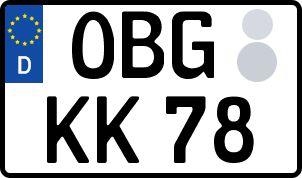 amtliches Eurokennzeichen Osterburg (Altmark)