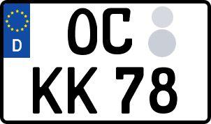 Vorgang zum Wunschkennzeichen in Oschersleben (Bode)