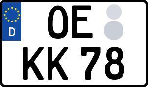 amtliches Eurokennzeichen Olpe