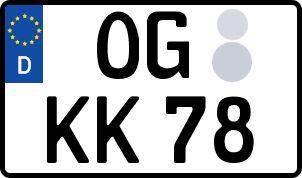 Vorgang zum Wunschkennzeichen in Offenburg