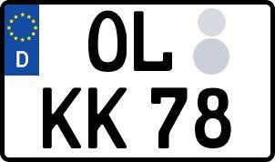 amtliches Eurokennzeichen Oldenburg