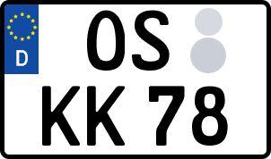 Die besten Wunsch-Kennzeichen in Osnabrück