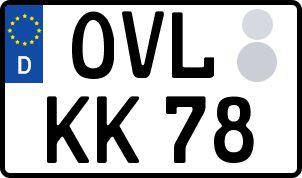 amtliches Eurokennzeichen Obervogtland