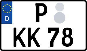 amtliches Eurokennzeichen Potsdam