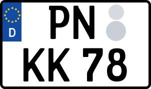 amtliches Eurokennzeichen Pößneck