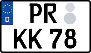 Vorgang zum Wunschkennzeichen in Prignitz