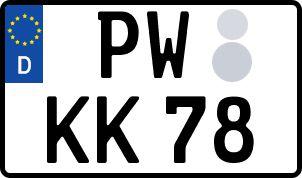 amtliches Eurokennzeichen Pasewalk