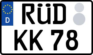So erhält man sein persönliches Wunschkennzeichen in Rüdesheim am Rhein