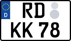 amtliches Eurokennzeichen Rendsburg