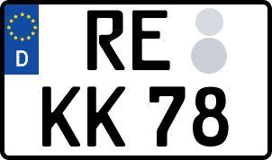 amtliches Eurokennzeichen Recklinghausen