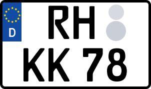 amtliches Eurokennzeichen Roth