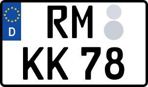 Vorgang zum Wunschkennzeichen in Röbel/Müritz
