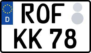 Die besten Wunsch-Kennzeichen in Rotenburg an der Fulda