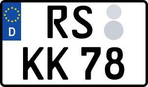 amtliches Eurokennzeichen Rhein-Pfalz