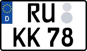 Die besten Wunsch-Kennzeichen in Rudolstadt