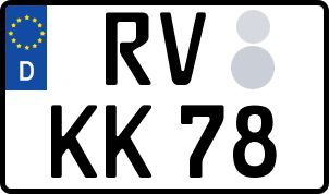 amtliches Eurokennzeichen Ravensburg
