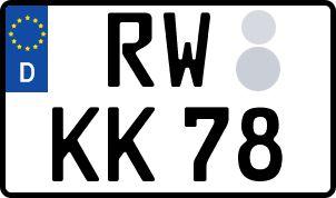 amtliches Eurokennzeichen Rottweil