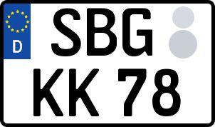 amtliches Eurokennzeichen Strasburg