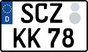 amtliches Eurokennzeichen Schleiz