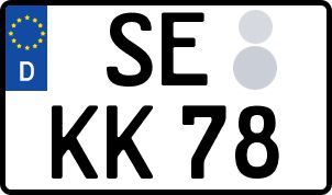Vorgang zum Wunschkennzeichen in Bad Segeberg