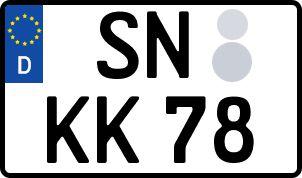 amtliches Eurokennzeichen Schwerin