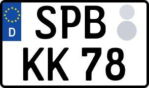 amtliches Eurokennzeichen Spremberg