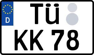 Vorgang zum Wunschkennzeichen in Tübingen
