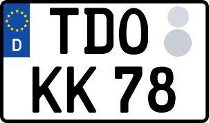amtliches Eurokennzeichen Torgau, Delitzsch, Oschatz