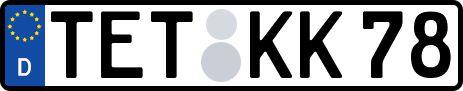 amtliches Eurokennzeichen Teterow