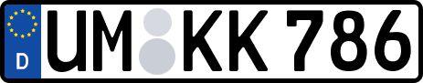 amtliches Eurokennzeichen Uckermark