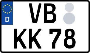 amtliches Eurokennzeichen Vogelsberg