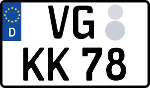 amtliches Eurokennzeichen Vorpommern, Greifswald