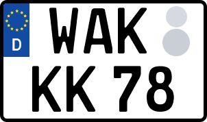 amtliches Eurokennzeichen Wartburgkreis