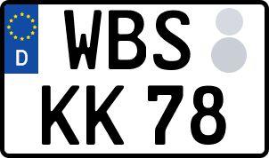 amtliches Eurokennzeichen Worbis