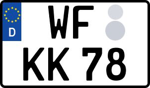 amtliches Eurokennzeichen Wolfenbüttel