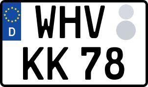 Vorgang zum Wunschkennzeichen in Wilhelmshaven