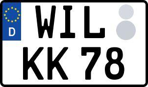 amtliches Eurokennzeichen Wittlich